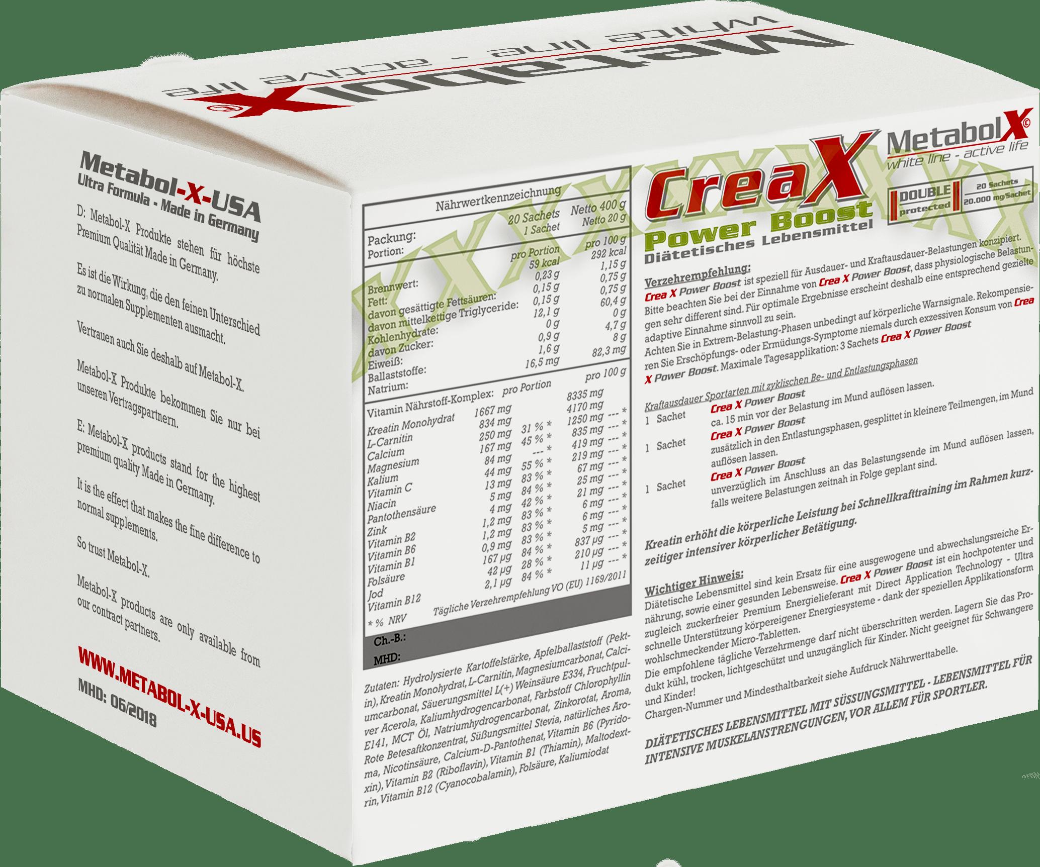 Crea-X Power Boost - Schachtel hinten